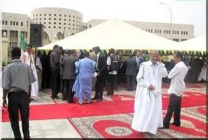 Cérémonie au siège de Mauritel à Nouakchott (photo : Google)