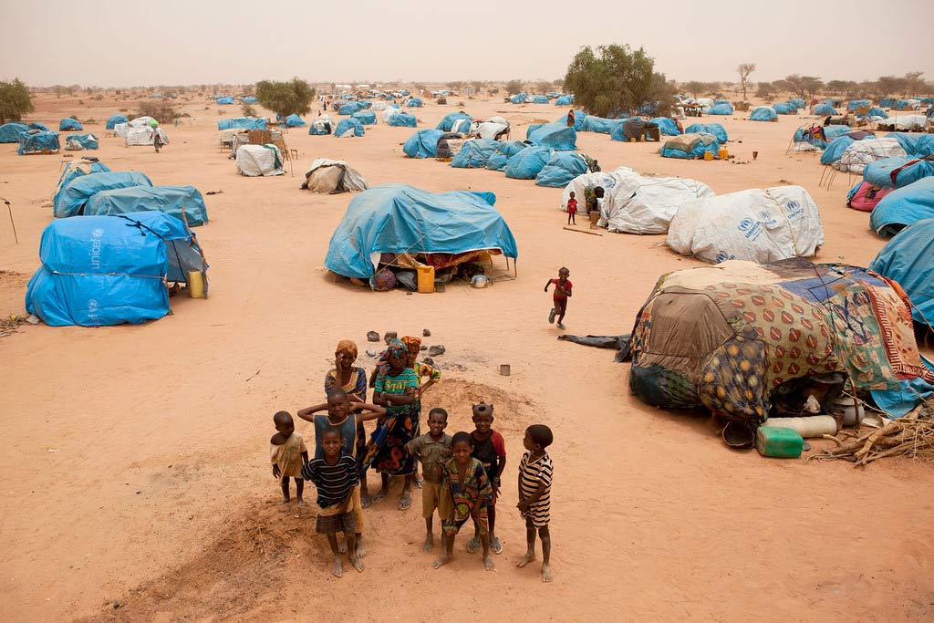 Camp de réfugiés maliens (crédit photo: un.org)