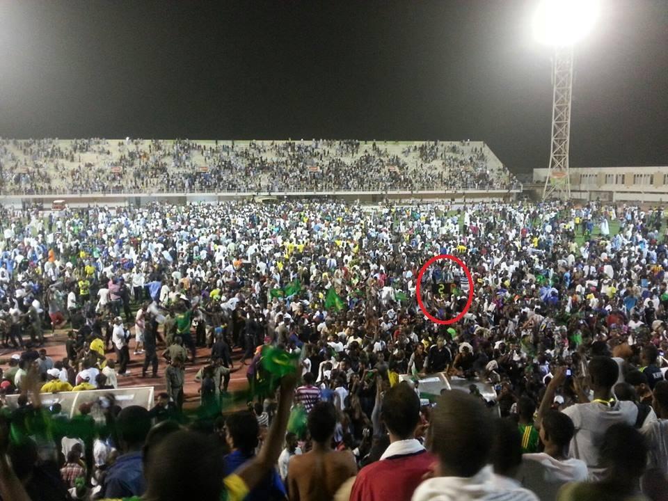 Ambiance survoltée d'après match (crédit photo: Jemal Sevir)