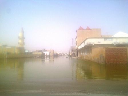 Quartier sinistré à Nouakchott (photo: Sneiba)