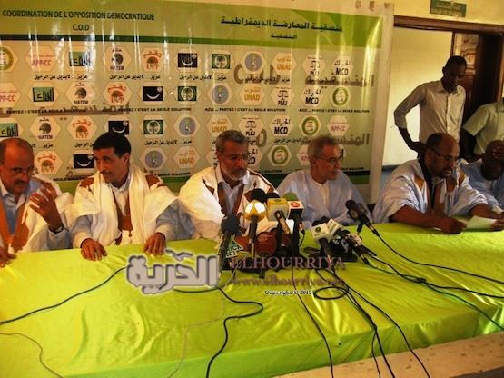 Conférence de presse de la COD (opposition)