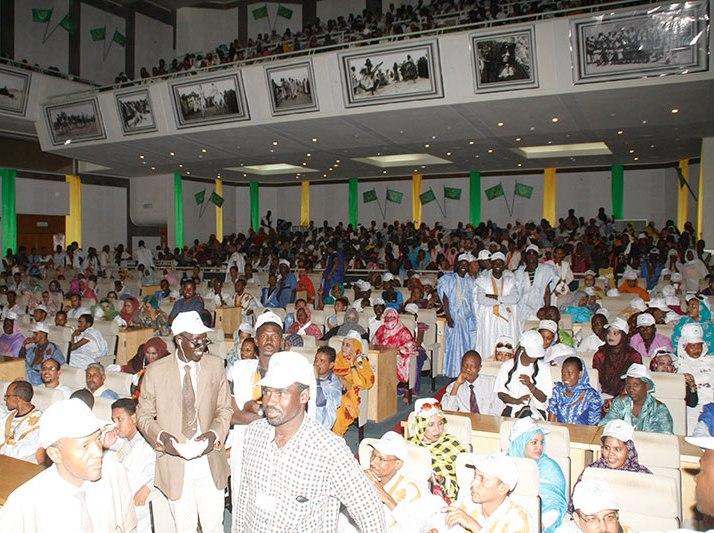 Les militants des quatre partis de jeunes réunis au palais des congrès (photo: AMI)
