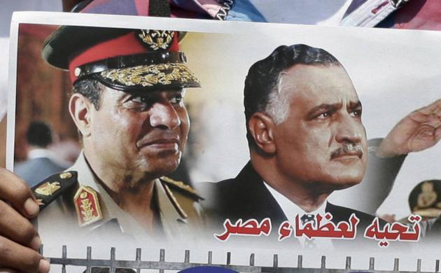 "Al Sissi et Nasser ""Les grands d'Egypte"" (photo : google)"