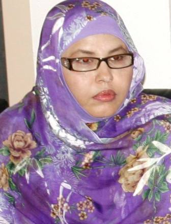 Fatma Ely, députée d'Al Wiam (opposition) et présidente de l'ONG Espoir