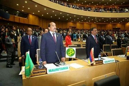 Le président Aziz à l'UA (photo : AMI)