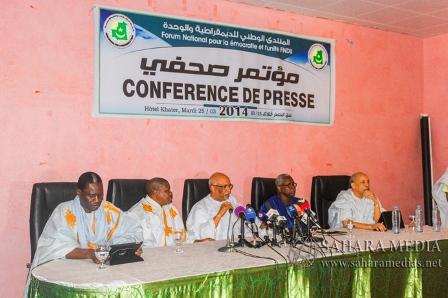 Conférence de presse Forum national pour la démocratie et l'unité (Photo : google)