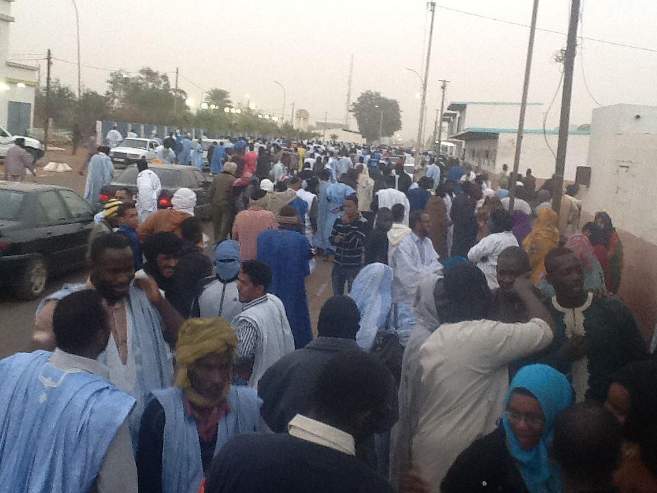 Grève des travailleurs de la SNIM (Crédit photo: medseib)
