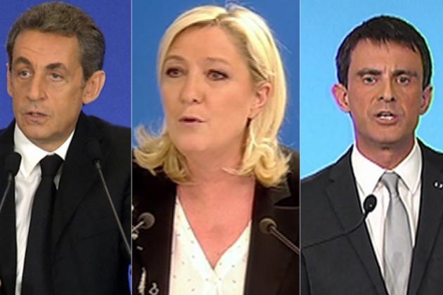 Sarkozy, Le Pen et Valls (photomontage M6)
