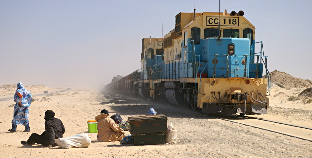 Le train de la SNIM, le plus long au monde (Photo: google)