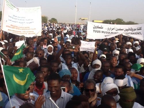 Marche des haratines en 2014 (Photo : google)