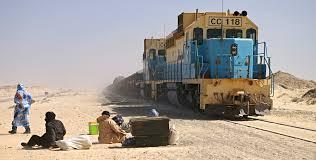 Le train minéralier de la Snim réputé être le plus long du monde.