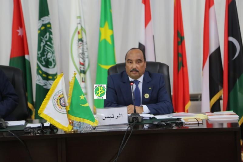 Le président Aziz, à l'ouverture du 27ème Sommet de la Ligue arabe (Photo : AMI)