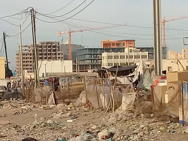 Le centre-ville de Nouakchott en chantier (photo : Sneiba)