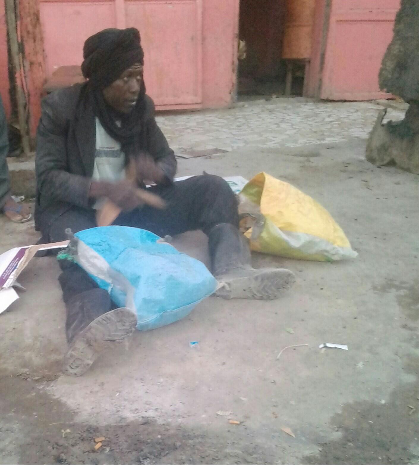Sleiman, devenu charretier à Nouakchott (photo : Sneiba)